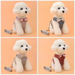 Bow harness online shopping - Breathable Dog Harness Fashion Casual Soft Puppy Vest Leashes With Bow Tie Pet Supplies For Outdoor Walking fy BB