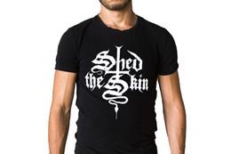 $enCountryForm.capitalKeyWord NZ - Shed The Skin Band Logo Black T-Shirt High Quality Custom Printed Tops Hipster Tees T-Shirt