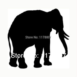 $enCountryForm.capitalKeyWord Australia - HotMeiNi Wholesale 20pcs lot Elephant Sticker For Car Rear Windshield Truck SUV Bumper Auto Door Laptop Kayak Canoe Art Wall Die Cut