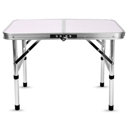 Folding Tables Aluminum NZ - Aluminum Folding Camping Table Laptop Bed Desk Adjustable Height 60 x 40.5 x 24   41.5cm Outdoor Tables BBQ Portable Lightweight Simple NB