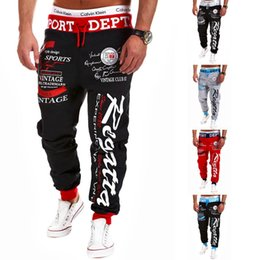 $enCountryForm.capitalKeyWord Canada - Men Casual Pants Mens Joggers Pant 2018 Male Hip Hop Cotton Pants Print Lacing Slim Tights Street Style Men's Trousers Plus Size