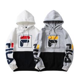 2018 FI LA Unisex Off hoodies мужские женские письма напечатанные Пары с капюшоном Белые свитера хип-хоп Kanye west Случайные пуловеры hoodies