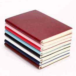 stationery planners notebooks NZ - Color Notebook PU Leather Cover Planner Journal Stationery Notepad Diary Graffiti Party Favors Souvenir Event Wedding Supplies