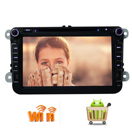 Stereo Din Volkswagen Australia - Android 6.0 Marshmallow Double Din Headunit Car GPS Stereo car DVD Player 8'' HD Touch screen Navi Radio Bluetooth WiFi SWC 1080P