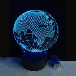 Globe map ball online shopping globe map ball for sale 3d visual effect america map shape globe shape led night light for decoration ball atmosphere diy night lamp p20 gumiabroncs Image collections