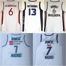 e9caf9e93797  6 Manu Ginóbili  6 Kristaps Porzingis European League Jerseys  13 Giannis  Antetokounmpo  7 Luka Doncic College Basketball Jersey