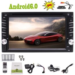 Rearview Screen NZ - Rearview Camera+6.2'' Android 6.0 Marshmallow Double Din 4Core Car dvd GPS Stereo Navi Map Bluetooth FM AM Radio Mirror Link WIFI