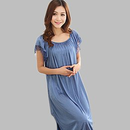 a3b26fe47c Loose Sexy Nightdress Long Nightgown Female Short Sleeve Summer Night Dress  Sleepwear For Women Casual Faux Silk Nightshirts