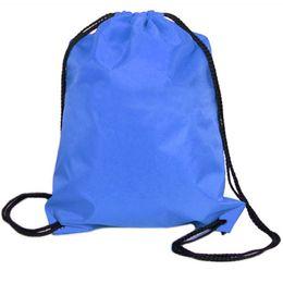 Nylon Drawstring Bag Rope String Sack Beach Women Men Travel Storage Package Teenagers Backpack Bundle School Sport Organizer Attractive Appearance Storage Bags Home Storage & Organization
