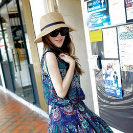 $enCountryForm.capitalKeyWord Australia - Hot New Fashion Summer Casual Women Ladies Wide Brim Beach Sun Hat Elegant Straw Floppy Bohemia Cap For Women Dating Cheap