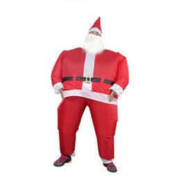 Christmas Clothes Australia - New Christmas Santa Claus Inflatable Clothing Funny Clothes Home Party Performance Funny Props With Blower