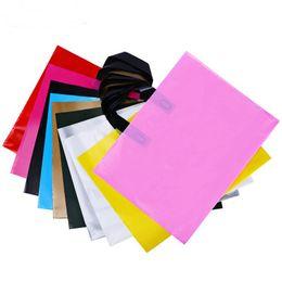 Customize logo printing plastiC bags online shopping - color hand held clothing bag gift plastic outer packing bag for cloths customized printing logo shopping bag