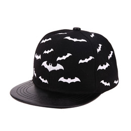 baby boy cap spring UK - Baby Baseball Cap Boys Girls Snapback Cap Kids Hiphop Hats Children Bat Print Summer Sun Hat
