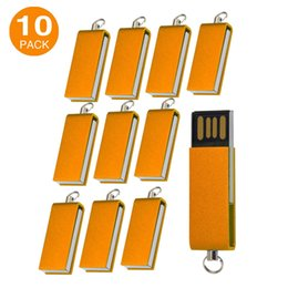 128mb usb memory stick UK - Free Shipping Bulk 10PCS 128MB Mini Swivel USB 2.0 Flash Drives Rotating Pen Drives Thumb Storage for PC Macbook USB Memory Stick Colorful