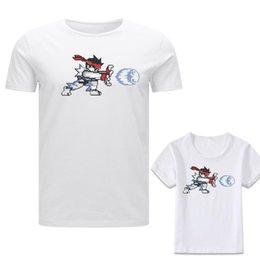 Street Fighter Ryu Inspirado Hadoken Gaming Mens Pai Filho Mum crianças Criança Tshirt venda por atacado