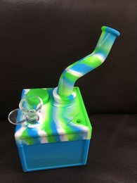 square water bong Canada - square Silicon Water Pipes glass bongs silicone water pipes silicone dab oil rig silicone water bong