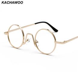 4c221f7a61 Kachawoo Wholesale 6pcs Vintage Retro Round Circle Metal Frame Eyeglasses  Women Small Glasses Frame Men Nerd Decoration Dropship