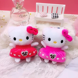 $enCountryForm.capitalKeyWord NZ - 4 inch aromatherapy hellow kitty cat Super cute toy Plush Toys Soft Anime Stuffed Animals Doll Gifts for Kids Mini toys with keyring