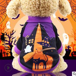 fall apparel 2019 - Halloween Pet Dog Clothes Halloween Witch Pumpkin Dog Cotton Costumes Autumn Winter Funny Teddy Dog Apparel cheap fall a