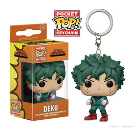 $enCountryForm.capitalKeyWord Australia - Wholesale DHL shipping Funko Pocket POP Keychain - Deku My Hero Academia Vinyl Figure Keyring with Box Toy Gift Good Quality 384