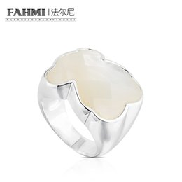 China FAHMI 100% 925 Sterling Silver Sweet Temperament Chic Mother-of-pearl Ring Female 815115500 Original Jewelry Gift suppliers
