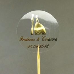 $enCountryForm.capitalKeyWord Australia - label clear 50pcs Customize Personalised Clear Bride and Groom Wedding Invitation Envelope Sticker Seals Monogram Favor Labels