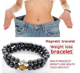 Bracelet anti fatigue online shopping - Magnetic Hematite Round Budda Heads Stone Beads Bracelet For Men Women Weight Lose Anti Fatigue Health Care Energy Bracelet
