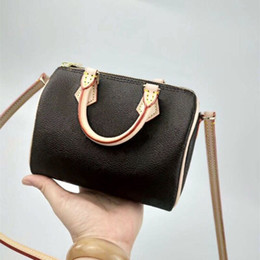 Wholesale 2018 Wholesale new orignal Canvas genuine leather lady messenger bag phone purse fashion satchel nano pillow shoulder bag handbag 61252