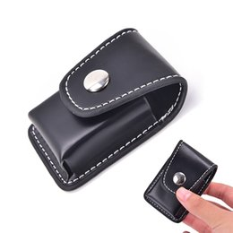 Chinese  1PCS Men Cigarette Lighter Holder Bag Small Box Case For Windproof Black Zippo Super Match High Leather Cover Lighter manufacturers