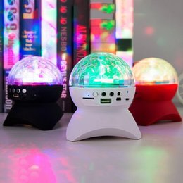 radio dj 2019 - Bluetooth Speaker Stage Lights RGB LED Crystal Magic Ball Effect Light DJ Club Disco Party Lighting With USB  TF FM radi