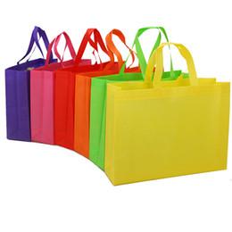 $enCountryForm.capitalKeyWord Australia - Non woven bag color printing film coated handbag blank environmental protection customized shopping hot pressing seam sewing bag