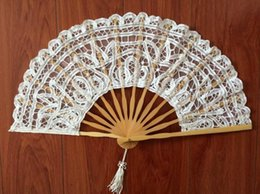 $enCountryForm.capitalKeyWord Australia - Handmade Fan Lace Embroidery Wedding Party Bridal Vintage Palace Style Hand Fan Cosplay Accessories Wedding Favor Small Gifts Arts and Craft