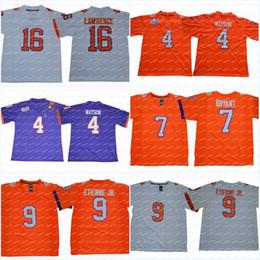 Stitched Clemson Tigers 16 Trevor Lawrence 4 Deshaun Watson 9 Travis  Etienne Jr. 7 Austin Bryant College Football Jerseys bad9235b9
