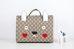 girls bunny backpacks 2019 - 2018 New Pattern Customized Children's Schoolbag Bunny Modelling Double Shoulder Bag Printing High-end Genuine Leat