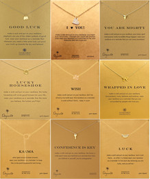 Wholesale Luxury Brand Dogeared Necklaces With card Gold Elephant Heart Key Clover Horseshoe Triangle Charm Pendant Necklace For women Fashion Jewelry
