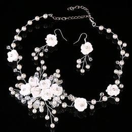 $enCountryForm.capitalKeyWord NZ - Elegant Beautiful Bridal Wedding Tiaras Bride Tiaras Crystal Necklace Earring Crown headdress 2-pieces Accessories Wedding Jewelry Sets Fas