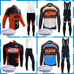 Ktm Clothes Australia - NEW Team KTM Pro Cycling Jerseys winter thermal fleece cycling clothing quick dry Long Sleeve mtb bike maillot ropa ciclismo 101124J