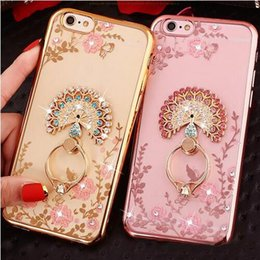 secret iphone 2019 - Bling Secret Garden Flowers Electroplate TPU Case Cover With Diamond Ring Grip For iPhone X 8 7 6 6S Plus 5