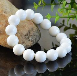 Tridacna beads online shopping - Yanting Natural tridacna bracelet cool feeling jewelry white beads bracelets women men gift stone bracelets