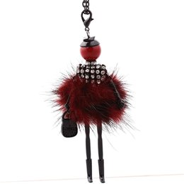 Girl doll necklaces online shopping - New Gun Black Color Rubbit Fur Jewelry Cute Girl Doll Necklace Long Necklace Women Pendant Jewelry Girl Doll Necklace