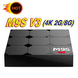 M8s Android Tv Boxes Australia - M9S V3 tv box android with 2gb ram 8gb rom Quad Core Streaming Media Player Rockchip M9S V3 Better M8S Pro