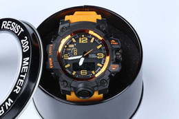 Caliente nuevo estilo relogio hombres relojes deportivos LED cronógrafo relojes reloj militar reloj digital hombres chico regalo con caja dropship
