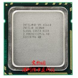 напряжение Xeon X5660 2,8 ГГц шесть основных 12 м процессор LGA1366 сервер держатель cpu напряжение