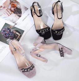 fe81c91e2fdf 2018 Women s Shoes Fashion Cross-band Summer Sandal Black Flip Flops For  Women 39 S Frosted Wedges Square Head Rough Heel Type Toe Cap