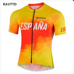 spain shirts NZ - 2018 Spain Cycling Jersey Summer Racing Cycling Clothing Ropa Ciclismo Short Sleeve MTB Bike Jersey Shirt Maillot Ciclismo