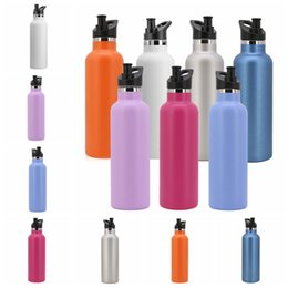 StainleSS double wall water bottle online shopping - 600ML Water Bottles Double Wall Stainless Steel Vacuum Insulated Sport Bottle Standard Mouth Travel Bottle Drinkware sport Car Cups GGA1327