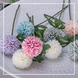 5 colors dandelion artificial plants silk flowers christmas party decoration wedding centerpieces wedding decor favors flower walls silk christmas