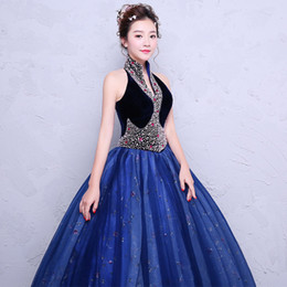 100%real beading royal blue carnival ball gown medieval Renaissance Gown  queen dress cosplay stage solo studio photo shooting belle ball 69d28877b417