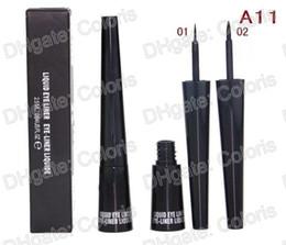 Maquillage Eye-Liner Liquide WaterProof Noir EyeLiner Liquid A11 Tête molle et tête dure 2.5ml 12pcs
