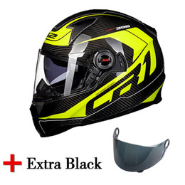 8fd09b1d LS2 Carbon fiber full face motorcycle helmet with an extra dark smoke moto  helmet visor shield original LS2 FF396 racing helmets